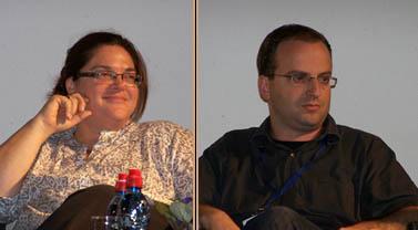 """עו""""ד טלי ליבליך וסמנכ""""ל התוכן בחדשות ערוץ 2 חיליק שריר (צילום: """"העין השביעית"""")"""