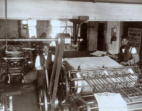 """בית-הדפוס של ה""""פלנט"""". ריצ'מונד, וירג'יניה, ארה""""ב, 1899 (צילום: ספריית הקונגרס, רשיון cc)"""