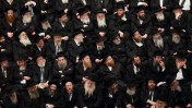 אסיפת בחירות של מפלגת יהדות-התורה, אתמול בירושלים (צילום: יונתן זינדל)
