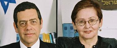 השופטים בדימוס ברכה אופיר-תום ושלי טימן (צילום: דוברות בתי-המשפט)