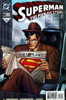 """עטיפת חוברת קומיקס מסדרת """"סופרמן"""""""