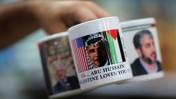 ספל עם תמונת נשיא ארצות-הברית, כפי שנמכר בעזה (צילום: ויסאם נאסר)