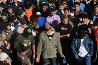 הלוויית הרב מאיר אבשלום חי, שנרצח על-ידי פלסטינים (צילום: קובי גדעון)