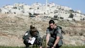 """חיילי מג""""ב שותלים עץ מזרחית לירושלים (צילום: אביר סולטן)"""