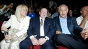 """מימין: בנימין נתניהו והעשיר שלדון אדלסון, בעליו של העיתון """"ישראל היום"""", בכנס """"תגלית"""" בירושלים, ה-12 לאוגוסטט 2007 (צילום: פלאש 90)"""