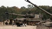 טנקים ישראליים ליד מעבר קרני, אתמול צילום: פלאש 90