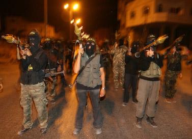 לוחמים מהג'יהאד האסלאמי מתאמנים בעזה, ה-8 ביוני (צילום: ויסאם נסאר)