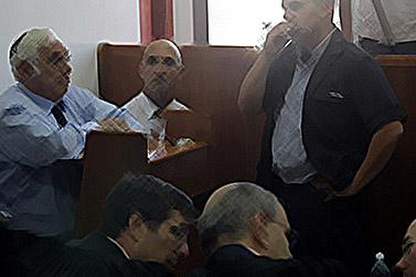 משה טלנסקי אתמול בבית-המשפט בירושלים (צילום תמונה מקורית: קובי גדעון)