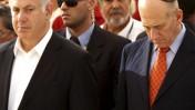 ראש הממשלה אהוד אולמרט (מימין) וראש האופוזיציה בנימין נתניהו, אתמול בטקס אזכרה לז'בוטינסקי (צילום: פלאש 90)