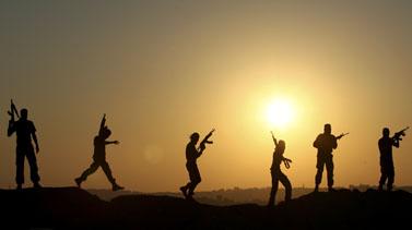 אנשי חמאס, שלשום בבית-לקיא שברצועת עזה (צילום: פלאש 90)