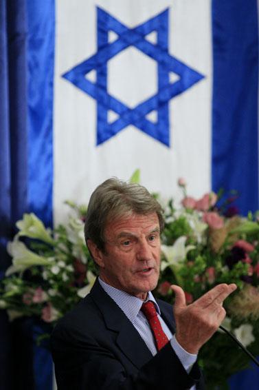 שר החוץ הצרפתי קושנר (צילום: פלאש 90)