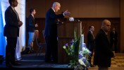 בנימין נתניהו בוועידת הנשיאים, 11.02.13 (צילום: פלאש 90)