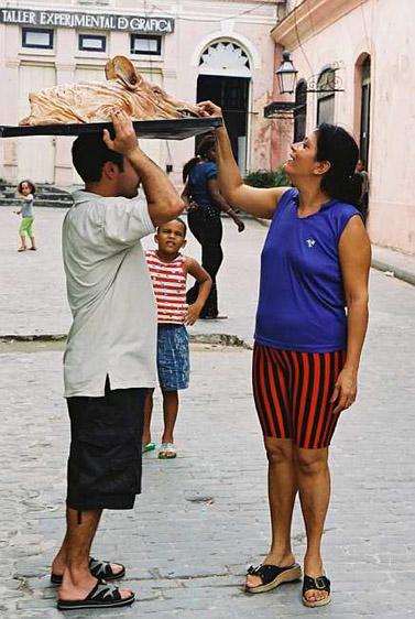 ראש חזיר. הוואנה, קובה (צילום: נתי שוחט)
