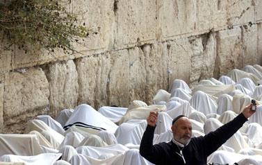 ברכת כוהנים בכותל (צילום: אוראל כהן)