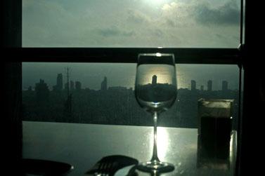 נוף ממגדל עזריאלי. לילה אחר (צילום: פלאש 90)
