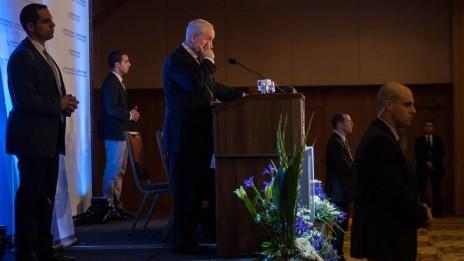 ראש הממשלה בנימין נתניהו נואם, אתמול (צילום: פלאש90)