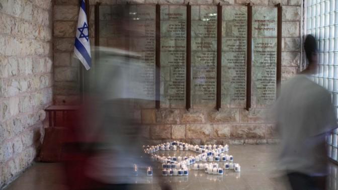 טקס יום הזיכרון, ירושלים, 25 באפריל 2012 (צילום: נועם מושקוביץ)