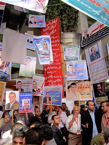 בחירות לאיגוד עיתונאים עצמאי במצרים, 25.10.11 (צילום: גיגי אבראהים, cc-by)