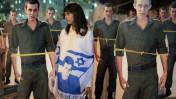 בובות קרטון בדמותו של החייל גלעד שליט, אתמול בהפגנה לשחרורו מול בית ראש הממשלה בירושלים (צילום: קובי גדעון)