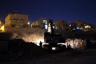 אתר בנייה בהר גילה, אתמול (צילום: יוסי זמיר)
