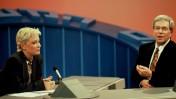יורם ארבל ואורלי יניב, שנות השמונים בערוץ הראשון (צילום: משה שי)