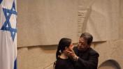 """ח""""כ מרב מיכאלי ויו""""ר הכנסת הזמני בנימין בן-אליעזר, היום בכנסת (צילום: פלאש 90)"""
