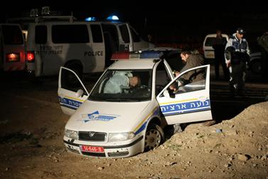 זירת הפיגוע, אתמול בבקעה (צילום: קובי גדעון)