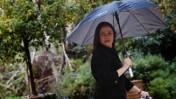 """יו""""ר העבודה שלי יחימוביץ' יוצאת מבית הנשיא, אתמול בירושלים (צילום: מרים אלסטר)"""