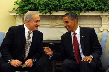 """בנימין נתניהו, ראש ממשלת ישראל, ונשיא ארה""""ב ברק אובמה; אתמול בבית הלבן (צילום: עמוס בן-גרשום)"""