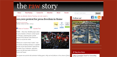 100000 protest for press freedom in Rome  Raw Story