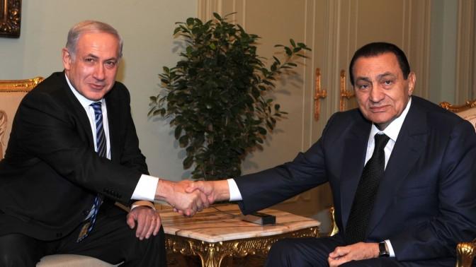 """פגישת נשיא מצרים חוסני מובארכ עם בנימין נתניהו, ראש ממשלת ישראל, 18.7.10 (צילום: משה מילנר, לע""""מ)"""