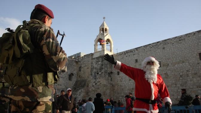 חגיגות חג המולד בבית-לחם, אתמול (צילום: עיסאם רימאווי)
