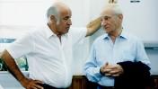 דב יודקובסקי וישעיהו (שייקה) בן-פורת (צילום: משה שי)
