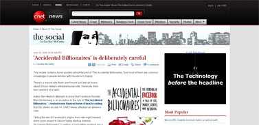 'Accidental Billionaires' is deliberately careful  The Social - CNET News