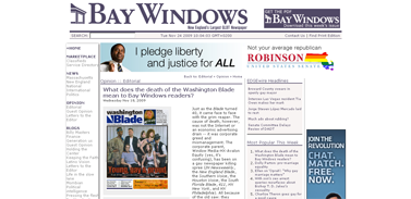 Bay Windows - New England's largest GLBT newspaper