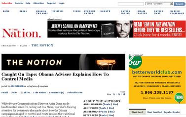 Caught On Tape- Obama Adviser Explains How To Control Media