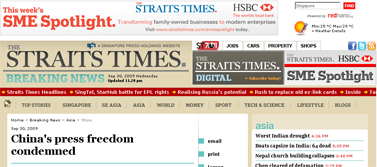 Chinas press freedom condemned