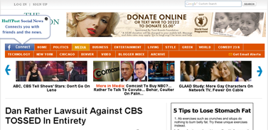 Dan Rather Lawsuit Against CBS TOSSED In Entirety
