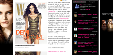 Demi Moore's W Cover- Worst Photoshop Ever - A-Line- the celebrity style blog - omg! on Yahoo