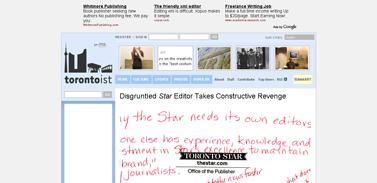 Disgruntled Star Editor Takes Constructive Revenge - Torontoist