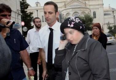 האם החשודה. משמאל, משה נוסבאום (צילום: יוסי זמיר / פלאש 90)