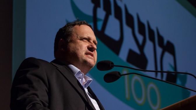 שלמה בן-צבי נואם בכנס במרכז מורשת בגין, ירושלים, 16.3.2013 (צילום: אורי לנץ)