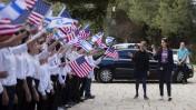 """חזרה לקראת טקס קבלת פנים לנשיא ארה""""ב ברק אובמה במשכן הנשיא בירושלים (צילום: פלאש 90)"""