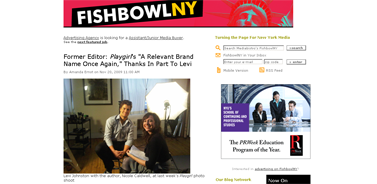 Former Editor- iPlaygirl-i's A Relevant Brand Name Once Again, Thanks In Part To Levi - mediabistro.com- FishbowlNY