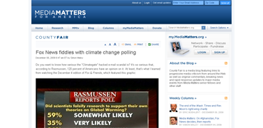 Fox News fiddles with climate change polling  Media Matters for America