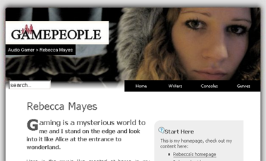 Game People  Audio Gamer  Rebecca Mayes