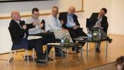 כנס הרדיו במרכז הבינתחומי בהרצליה, מימין: גדי להב, ירון דקל, מיקי מירו, אבי משולם, רפי מן, 5.3.13 (צילום: אורן שלו)