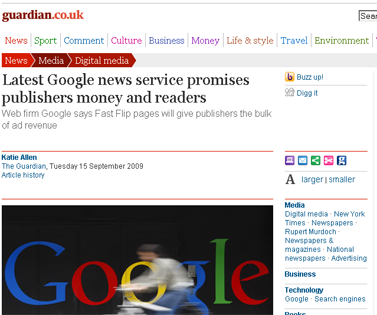 Latest Google news service promises publishers money and readers Media The Guardian