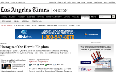 Laura Ling and Euna Lee- Hostages of the Hermit Kingdom -- latimes.com