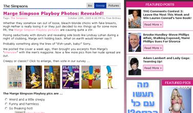 Marge Simpson Playboy Photos- Revealed! - The Hollywood Gossip